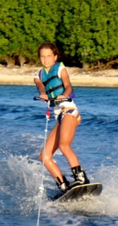 Wakeboarding in the Islands