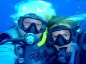 Crew SCUBA diving together