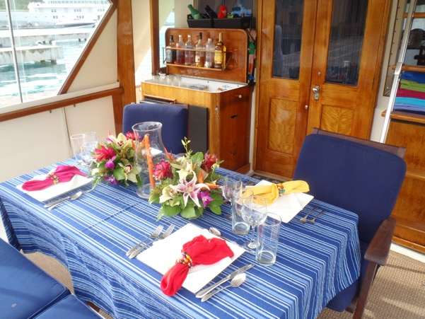 Our Aft Deck Bar