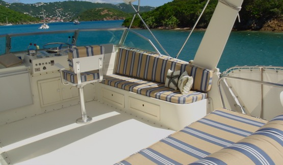 Shaded Flybridge Seating
